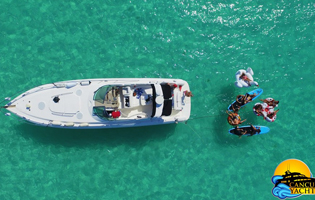 Cancun Boat Special deal, 21' Bayliner good price charter Cancun Boat Rentals